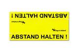 Grote gele waarschuwingssleeve in het Duits_