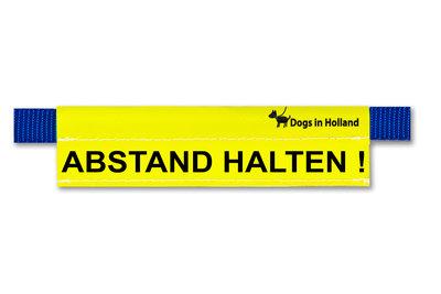 Medium gele waarschuwingssleeve in het Duits