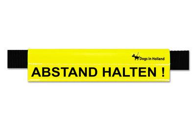 Grote gele waarschuwingssleeve in het Duits